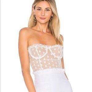 Majorelle white bodysuit BN